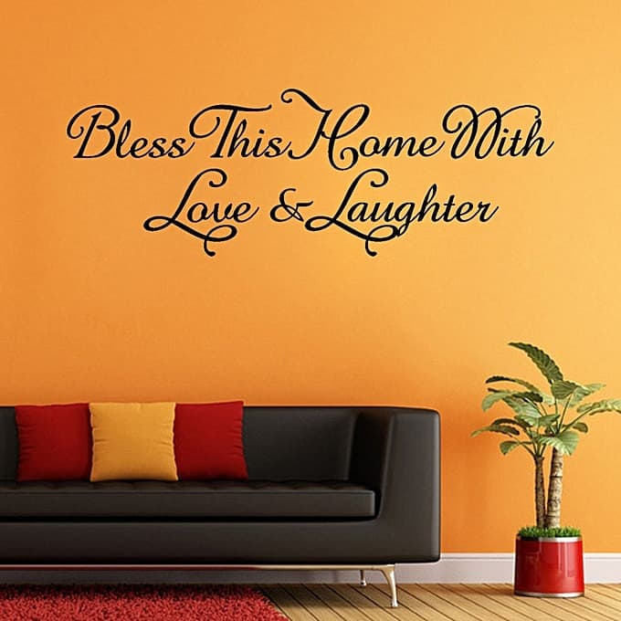 Skywolfeye Bless This Home Removable Art Vinyl Mural Home Room Decor ...